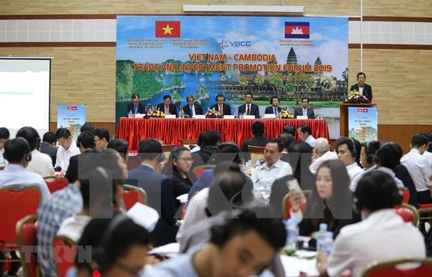Efectuan Foro de Comercio e Inversion Vietnam-Camboya 2019 hinh anh 1