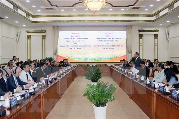 Propone Ciudad Ho Chi Minh apoyo de empresas europeas a construccion de urbe inteligente hinh anh 1