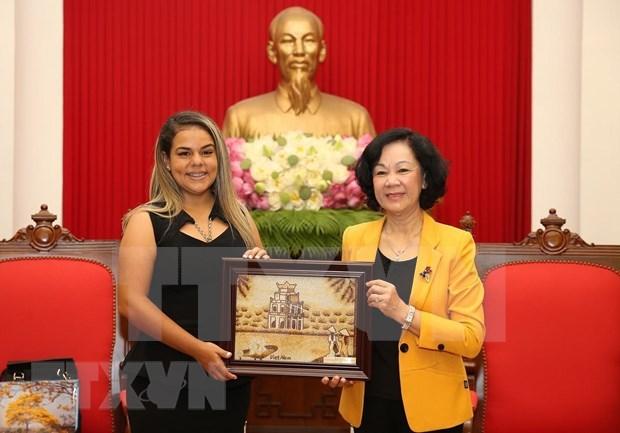Consolidan nexos organizaciones juveniles de Vietnam y Venezuela hinh anh 1