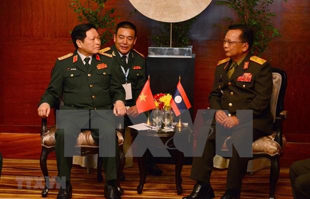 Reafirma Vietnam importancia de sus vinculos militares con Laos hinh anh 1