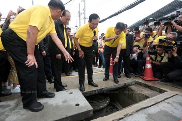 Construye Tailandia bancos de agua en Bangkok para prevenir inundaciones hinh anh 1