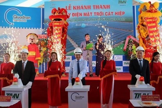 Inauguran primera planta fotovoltaica en provincia central vietnamita de Binh Dinh hinh anh 1
