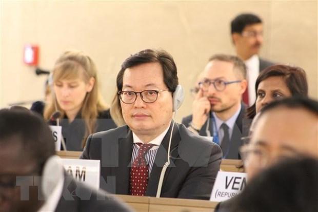 CDH adopta una resolucion sobre el cambio climatico hinh anh 1