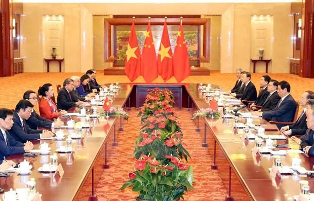 Concluye presidenta del parlamento vietnamita visita a China hinh anh 1