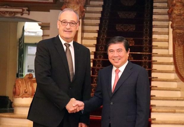 Ciudad Ho Chi Minh promueve cooperacion con Suiza hinh anh 1