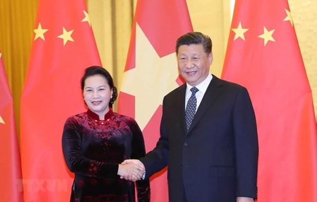 Ratifica visita de maxima legisladora vietnamita a China asociacion estrategica bilateral hinh anh 1