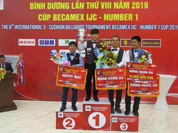 Finaliza billarista vietnamita segundo en Torneo Internacional de carambola de tres bandas hinh anh 1