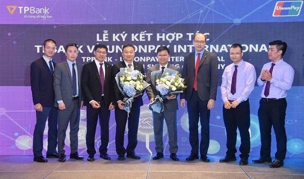 Suscribe banco vietnamita TPBank convenio de pagos con UnionPay hinh anh 1