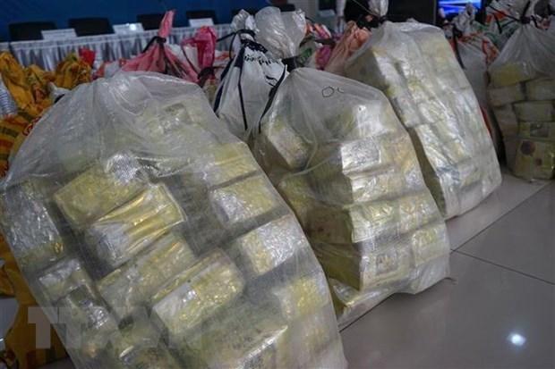 Decomisan en Tailandia una tonelada de metanfetamina hinh anh 1