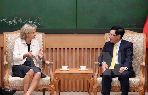 Vicepremier vietnamita recibe a presidenta de la region francesa Ile-de-France hinh anh 1