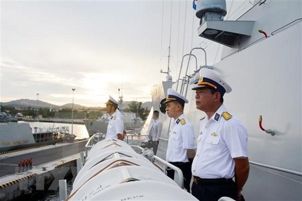 Participara fragata vietnamita en desfile naval por el Dia de la Armada de Rusia hinh anh 1