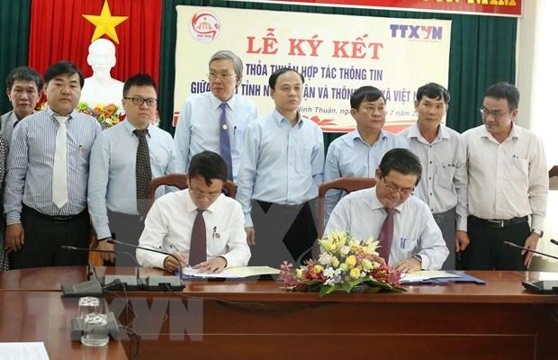 Firman VNA y provincia vietnamita acuerdo de cooperacion informativa hinh anh 1