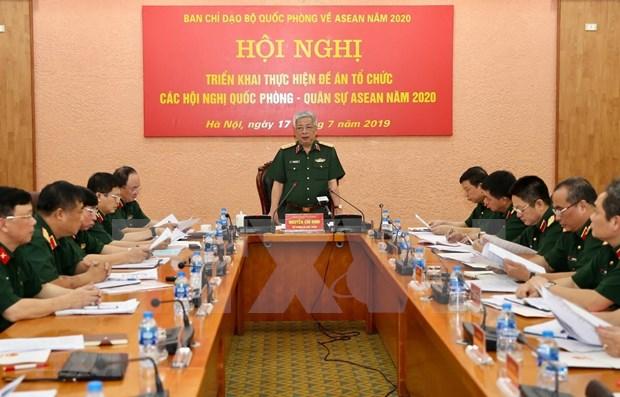 Se prepara el Ministerio de Defensa de Vietnam para el ano ASEAN 2020 hinh anh 1