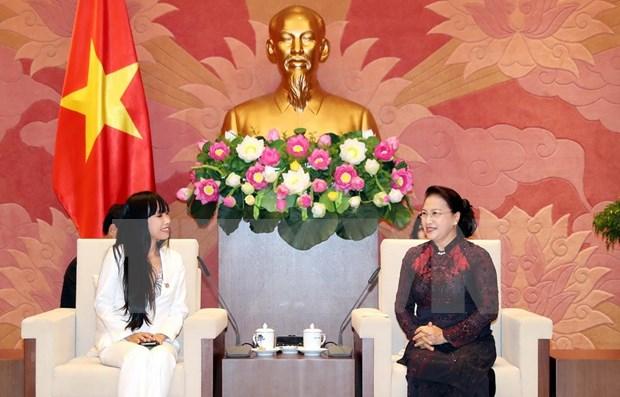 Valora presidenta del Parlamento de Vietnam nexos con Francia hinh anh 1