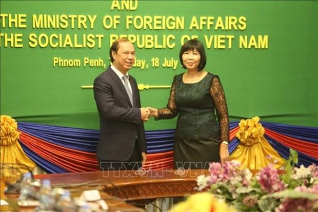 Realizan Vietnam y Camboya su sexta consulta politica hinh anh 1