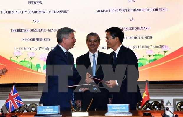 Cooperan Ciudad Ho Chi Minh y Reino Unido para el desarrollo de la urbe vietnamita hinh anh 1