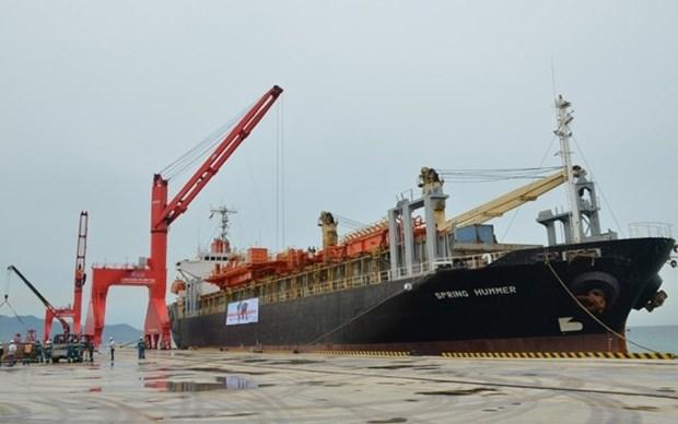 Recibe puerto en provincia vietnamita de Binh Thuan primer barco extranjero hinh anh 1