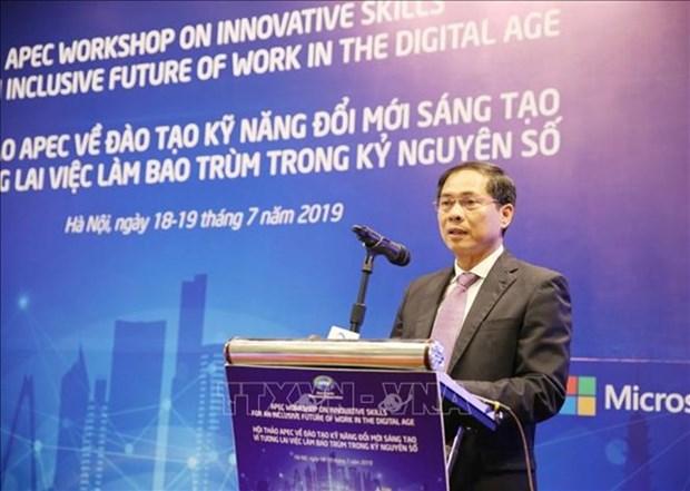 Conferencia APEC promueve habilidades de trabajo innovadoras en la era digital hinh anh 1