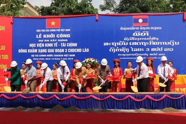Asiste Vietnam a Laos en construccion de Academia de Economia y Finanzas hinh anh 1
