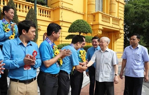 Maximo dirigente de Vietnam se reune con representantes sindicales destacados hinh anh 1