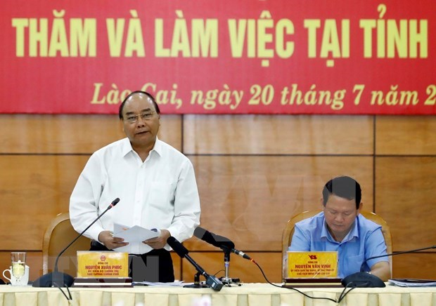 Pide premier de Vietnam desarrollo sostenible del turismo en provincia de Lao Cai hinh anh 1