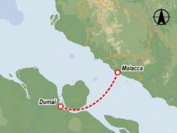 Abriran Indonesia y Malasia nueva via acuatica entre Dumai y Malacca hinh anh 1