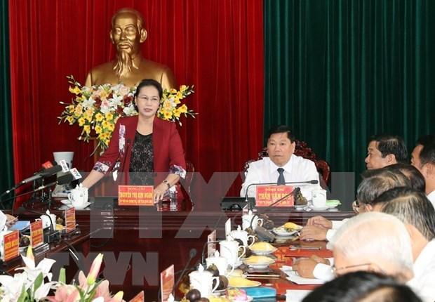 Insta presidenta del Parlamento de Vietnam a Vinh Long a desarrollar la agricultura hinh anh 1