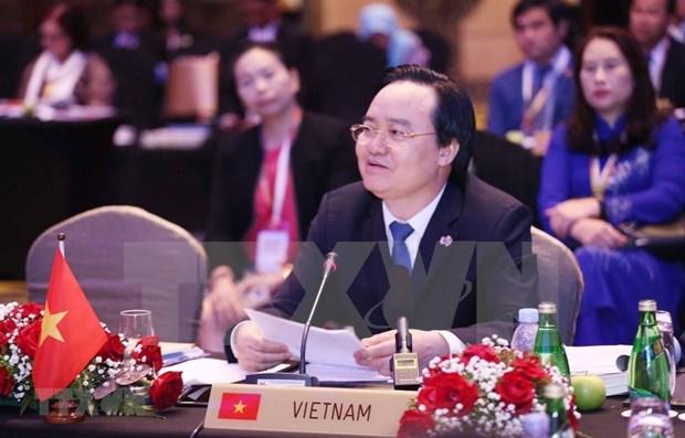 Propone ministro vietnamita construir un ambiente educativo feliz y armonico hinh anh 1