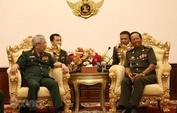 Vietnam y Camboya profundizan cooperacion militar hinh anh 1