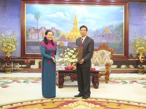 Realiza visita a Laos una delegacion de Ciudad Ho Chi Minh hinh anh 1