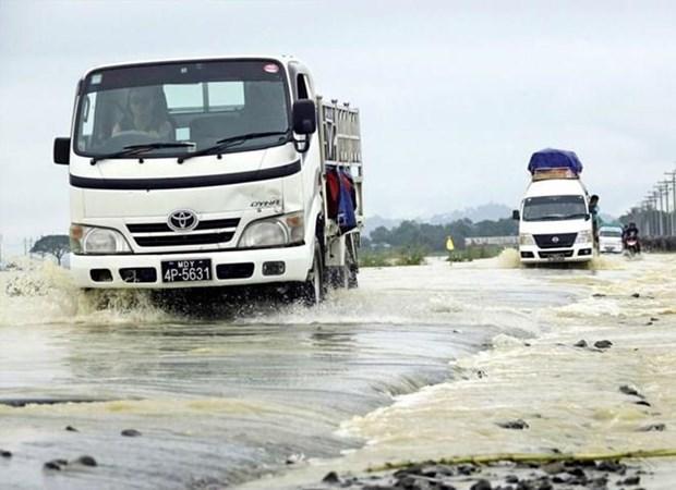 Evacuan en Myanmar a mas de nueve mil hogares por inundaciones hinh anh 1