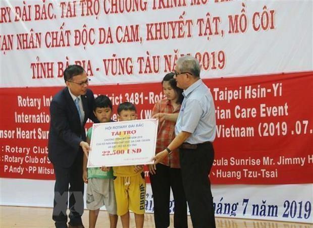 Asiste el club Rotary Taipei a las victimas del Agente Naranja/Dioxina hinh anh 1