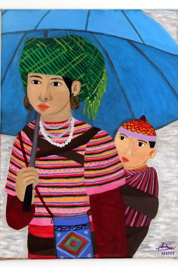 Exhiben en Italia obra de pintora sorda vietnamita hinh anh 1