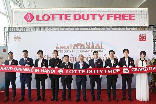 Empresa surcoreana Lotte abre su tercera tienda libre de impuestos en Vietnam hinh anh 1