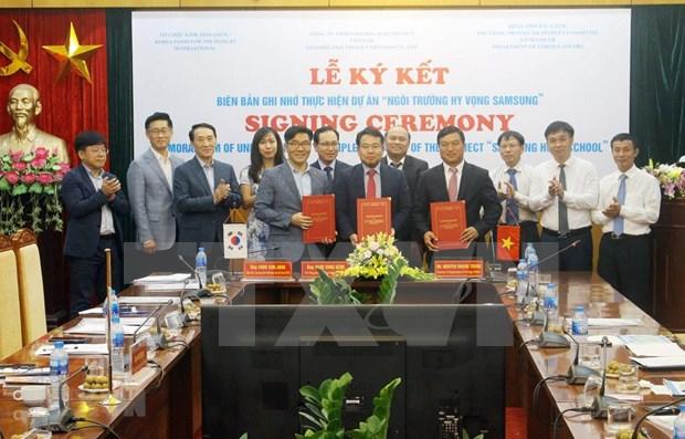 Construiran escuela en provincia vietnamita de Bac Giang con financiamiento sudcoreano hinh anh 1