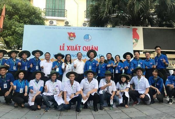 Participan jovenes vietnamitas en actividades voluntarias en Laos hinh anh 1