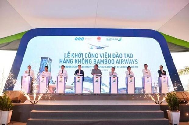 Inician construccion del Centro de Entrenamiento Aeronautico de Bamboo Airways hinh anh 1