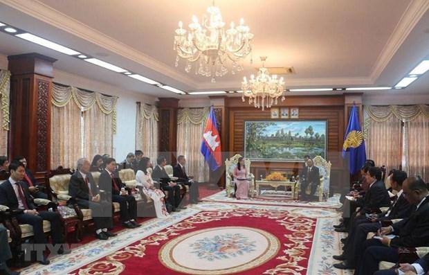 Aprecia dirigente de Camboya desarrollo de Ciudad Ho Chi Minh hinh anh 1