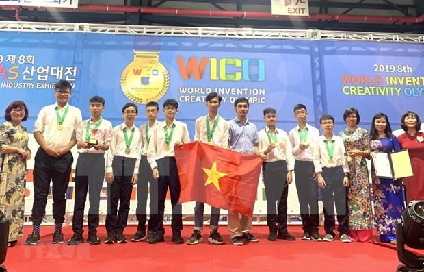 Triunfan alumnos vietnamitas en Olimpiada Mundial de Creatividad e Invencion hinh anh 1
