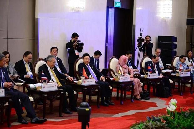 Cancilleres de ASEAN revisan situacion de derechos humanos hinh anh 1