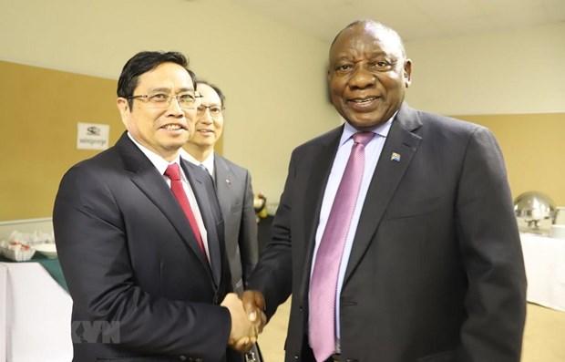 Dirigente partidista vietnamita realiza visita de trabajo en Sudafrica hinh anh 1