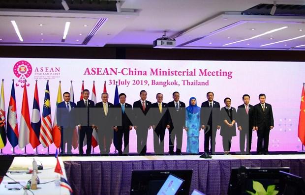 Ministros de Relaciones Exteriores de ASEAN y China se reunen en Bangkok hinh anh 1