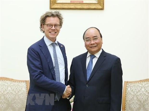 Exhorta primer ministro vietnamita a ampliar cooperacion con Suecia hinh anh 1