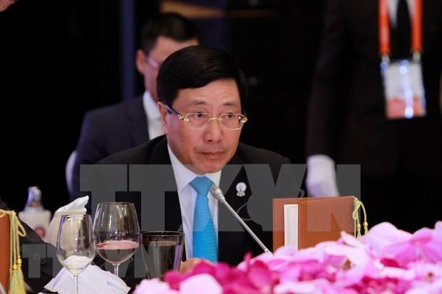 Proyecta Vietnam fortalecer la cooperacion en mecanismos internacionales con varios paises hinh anh 1