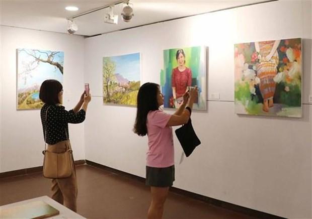 Participan artistas internacionales en programa de intercambio en Vietnam hinh anh 1