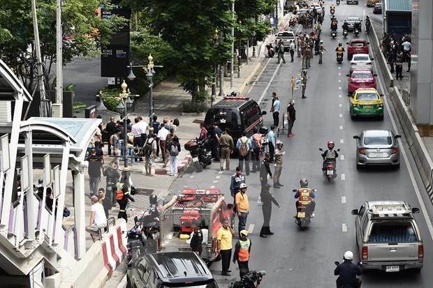 Sacuden explosiones centro de Bangkok hinh anh 1