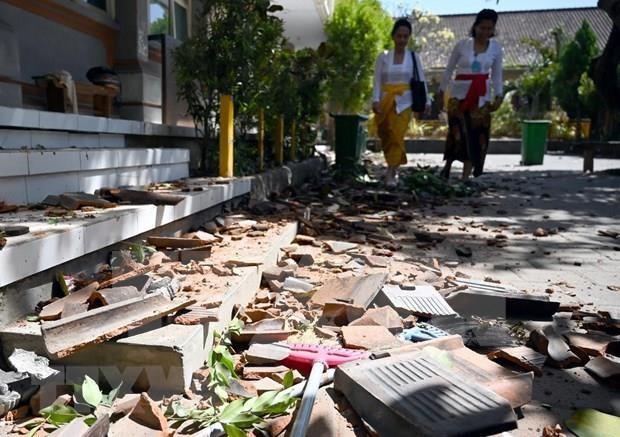 Provoca terremoto al menos una muerta en Indonesia hinh anh 1
