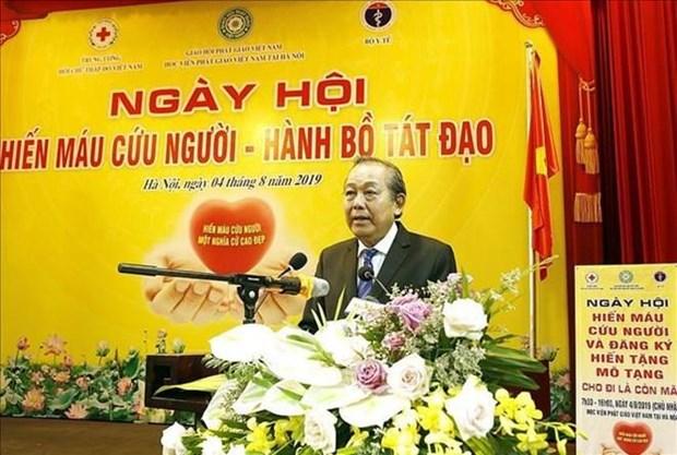 Se unen seguidores budistas vietnamitas a campana de donacion de sangre y organos hinh anh 1