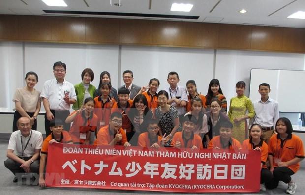 Concluyen jovenes vietnamitas viaje de amistad a Japon hinh anh 1