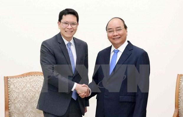 Reafirma primer ministro vietnamita apoyo a cooperacion con Banco de Tailandia hinh anh 1